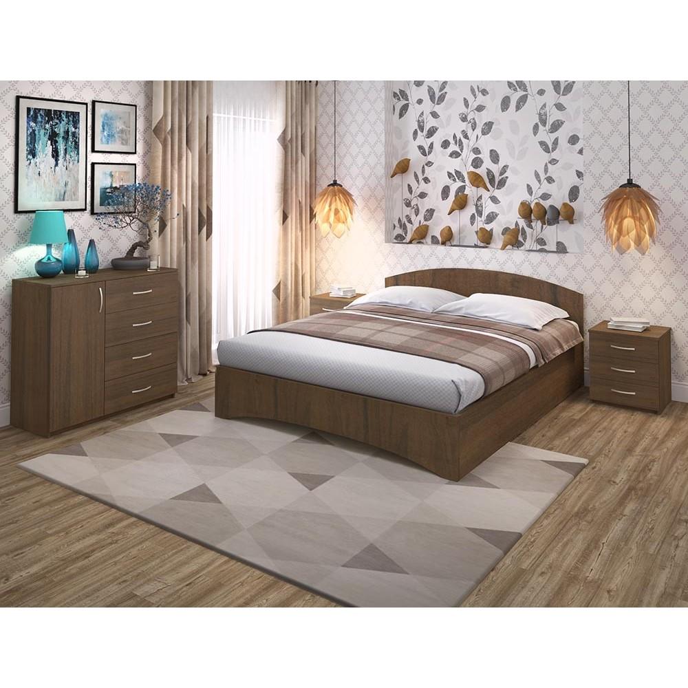 Кровать Рено 1 (спинка - радиус)