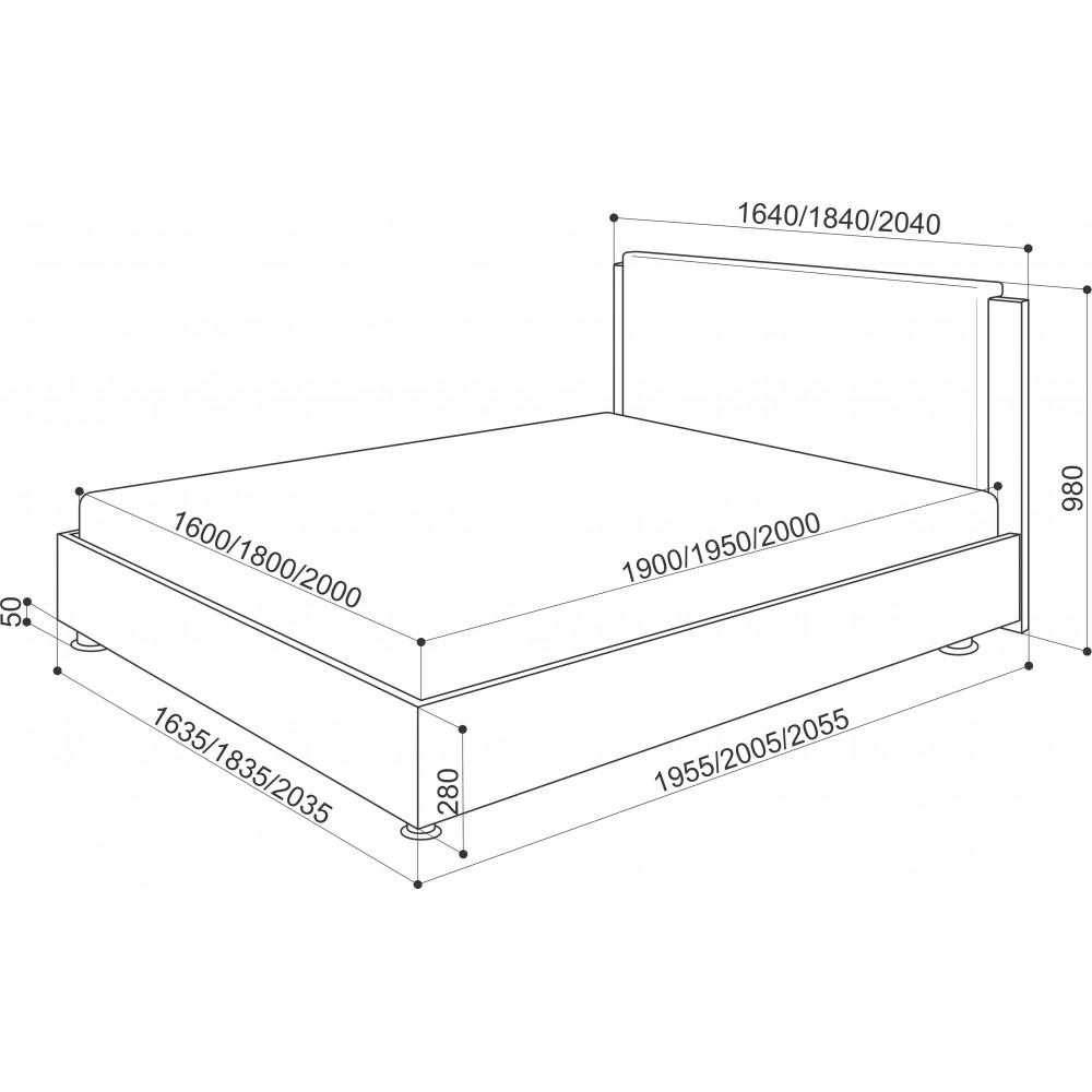 Кровать Китон 1