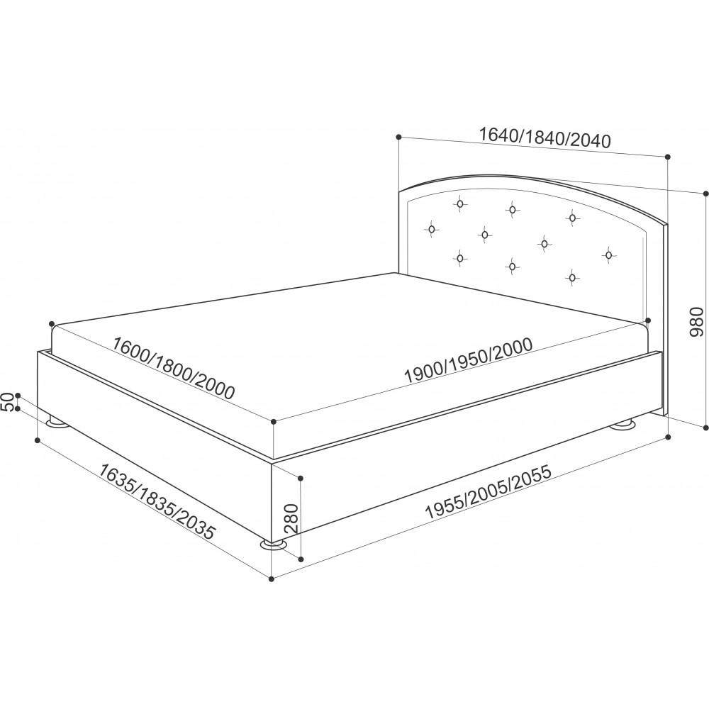 Кровать Мелори 1